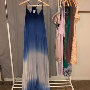Bar lll blue ombré maxi dress